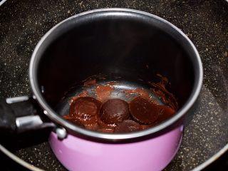 巧克力蛋糕甜甜圈,巧克力隔水融化