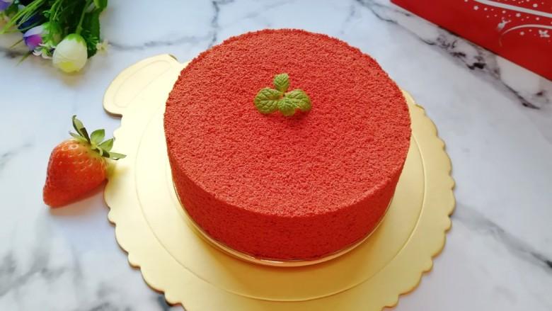 6寸红丝绒戚风蛋糕