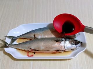香辣孜然烤鱼,加入蚝油,生抽。