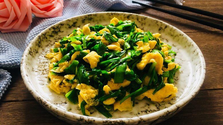 韭菜炒鸡蛋,成品图