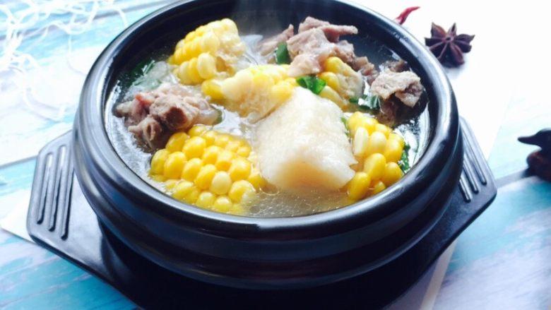 小寒养生汤+糯米山药玉米筒骨汤