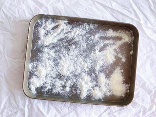原味雪花酥,容器底部撒一层奶粉 防止粘连不脱模