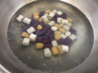 自制鲜芋圆,水开煮芋圆
