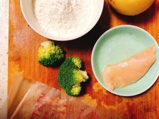 雪梨鸡胸肉粒粒面汤,面粉100g(实际用到的面只有30g!准备这么多是为了,后面调面糊的时候干了减面,稀了加面)