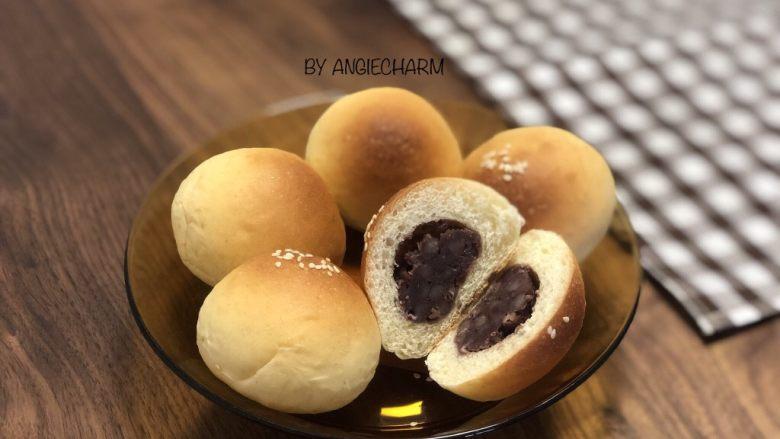 无油陈皮红豆馅小面包