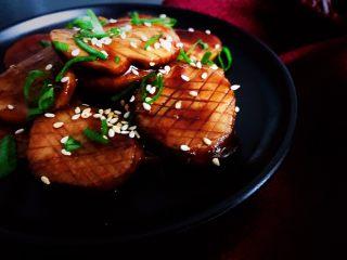 蚝油杏鲍菇,春节家宴必备,成品。