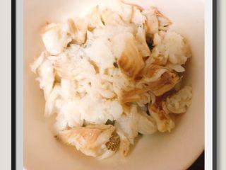 蒜苔玉米鱼香烩饭,鱼肉去刺一定要仔细!