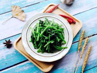 蒜蓉茼蒿,成品图