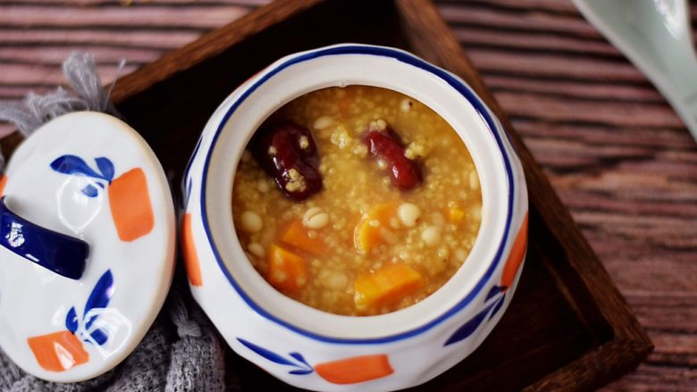 小米红薯粥,成品图