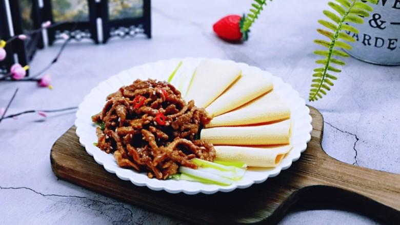 干豆腐皮~京酱肉丝
