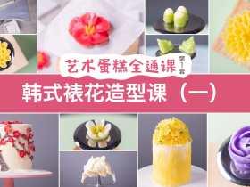 《艺术蛋糕全通课》之韩式裱花造型课(一)预告片