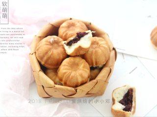 软萌甜紫米面包,成品图