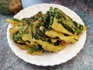 菠菜鸡蛋饼(无面粉)