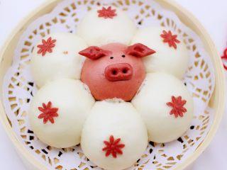 萌猪报春花样馒头,萌萌哒的萌猪报春就出锅咯。