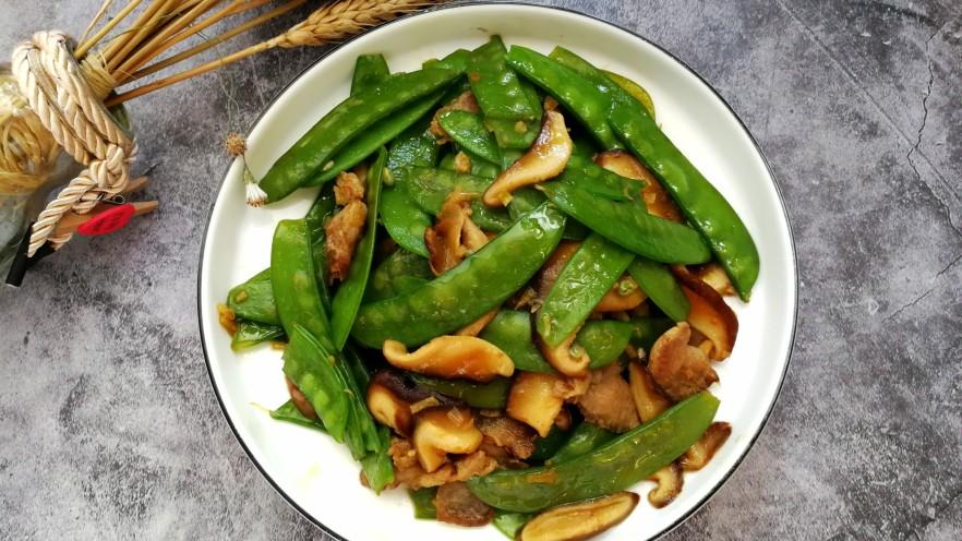 肉炒荷兰豆香菇
