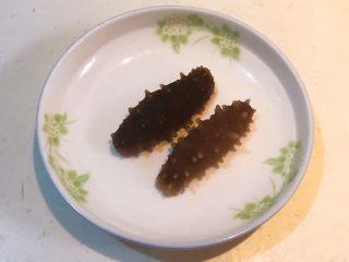 元气早餐  砂锅海参小米粥,把即食海参清洗干净
