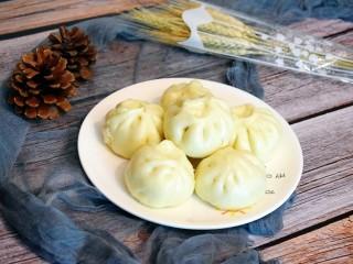美味素包子——豆腐粉条黑木耳香菇馅,白白胖胖的大包子就蒸好啦!