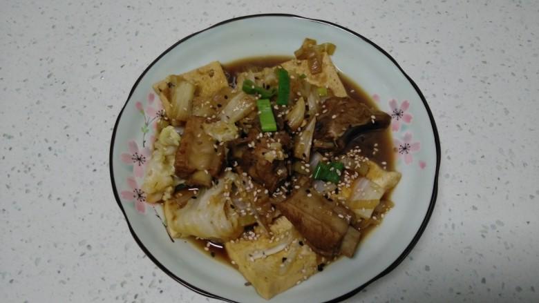 豆腐排骨炒白菜