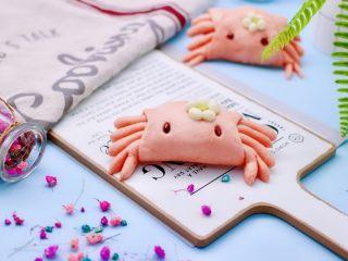 花样小螃蟹馒头,嘻嘻,不忍下口,还是养两天再说吧。