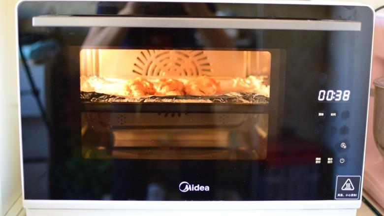 烤鸡翅根,美的S4-281E蒸烤一体机,G3蜜汁鸡腿功能,烤30分钟