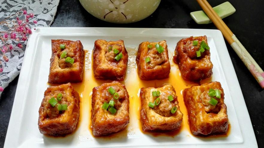 茄汁豆腐酿肉