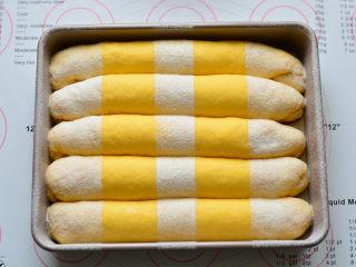 南瓜排包,放入预热好的烤箱160度烤30分钟,出炉后立刻取出,放在晾网上晾凉,就可以食用了