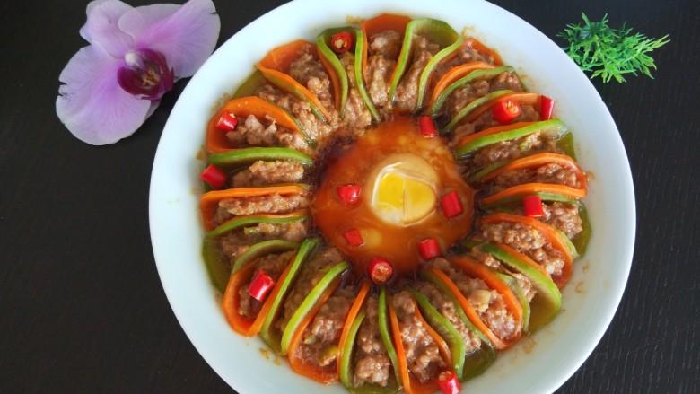 新文美食  青红萝卜蒸肉末