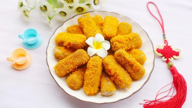 喜庆又好吃的黄金芋头酥,美味又喜庆~