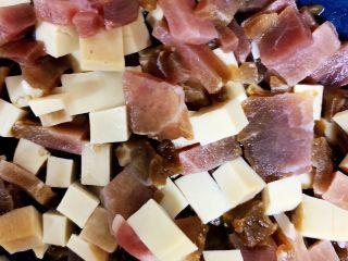 养生粥,50度温水泡发酱油肉