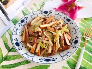 韭黄豆干炒肉丝
