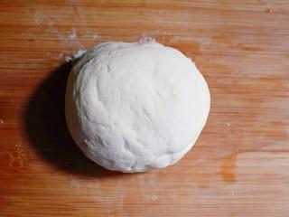 麻辣豆腐粉条香菇包,将发好的面,复揉成光滑的面团。