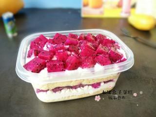火龙果盒子蛋糕