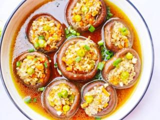 改良版香菇酿肉,成品欣赏。