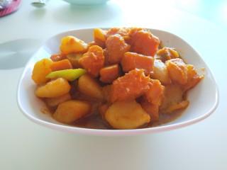 土豆熬金瓜  新文美食,成品图