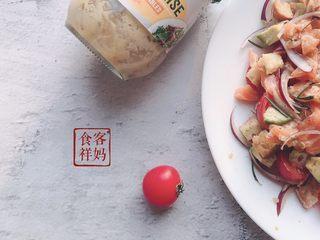 #年年有鱼#家宴:三文鱼沙拉,成品4