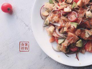 #年年有鱼#家宴:三文鱼沙拉,成品5