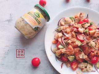#年年有鱼#家宴:三文鱼沙拉,成品2