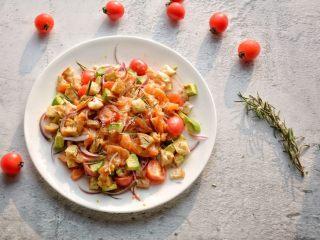 #年年有鱼#家宴:三文鱼沙拉