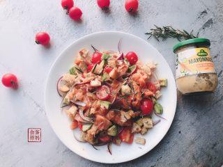 #年年有鱼#家宴:三文鱼沙拉,成品3