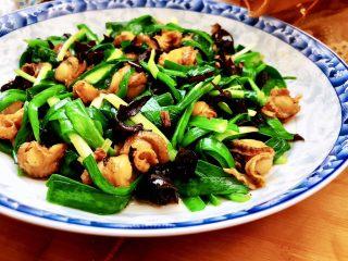 嫩绿轻黄鲜掉眉➕韭菜木耳炒扇贝,这道韭菜木耳炒扇贝,做法简单,营养丰富,滋味十分鲜美~喜欢的宝宝们,一起来试试吧😛