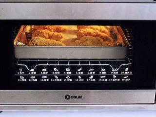 减脂无油的面包糠烤翅根,上管190°,下管185°烤20分钟。(具体时间及时间根据自家烤箱性能另定)