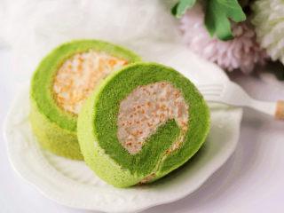 小清新范儿滴【菠菜南瓜蛋糕卷】,下午茶~~