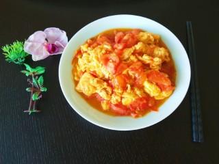 番茄炒蛋  新文美食,成品图