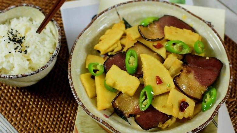 冬笋炒腊肉——沁入心脾,妙不可言的一道菜