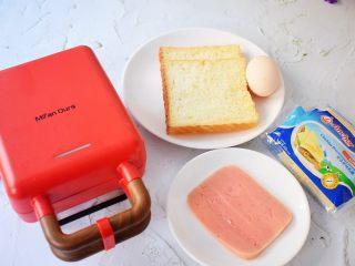 自制三明治,准备好材料