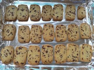 情人节之蔓越莓饼干,烤好取出