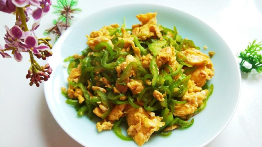 尖椒丝炒鸡蛋