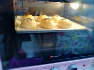 淡奶油餐包,送入预热好的烤箱,上下管170度烤20分钟左右。