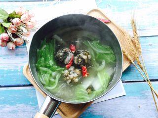 #猪五花#紫菜肉丸子大白菜粉丝汤
