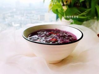 紫薯银耳羹,成品。